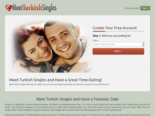 Meet Turkish Singles Homepage Image
